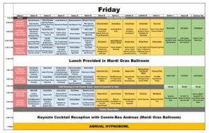 Hypnosis-convention-schedule